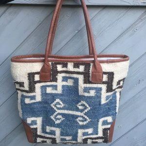 Mo&Co Aztec style large shoulder bag tote.